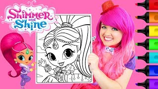 Coloring Shimmer and Shine Shimmer Coloring Page Prismacolor Paint Markers | KiMMi THE CLOWN