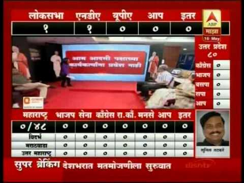 Marathi Sangeet LIVE Results India Elections 2014 Part 1 by ABP MAZA