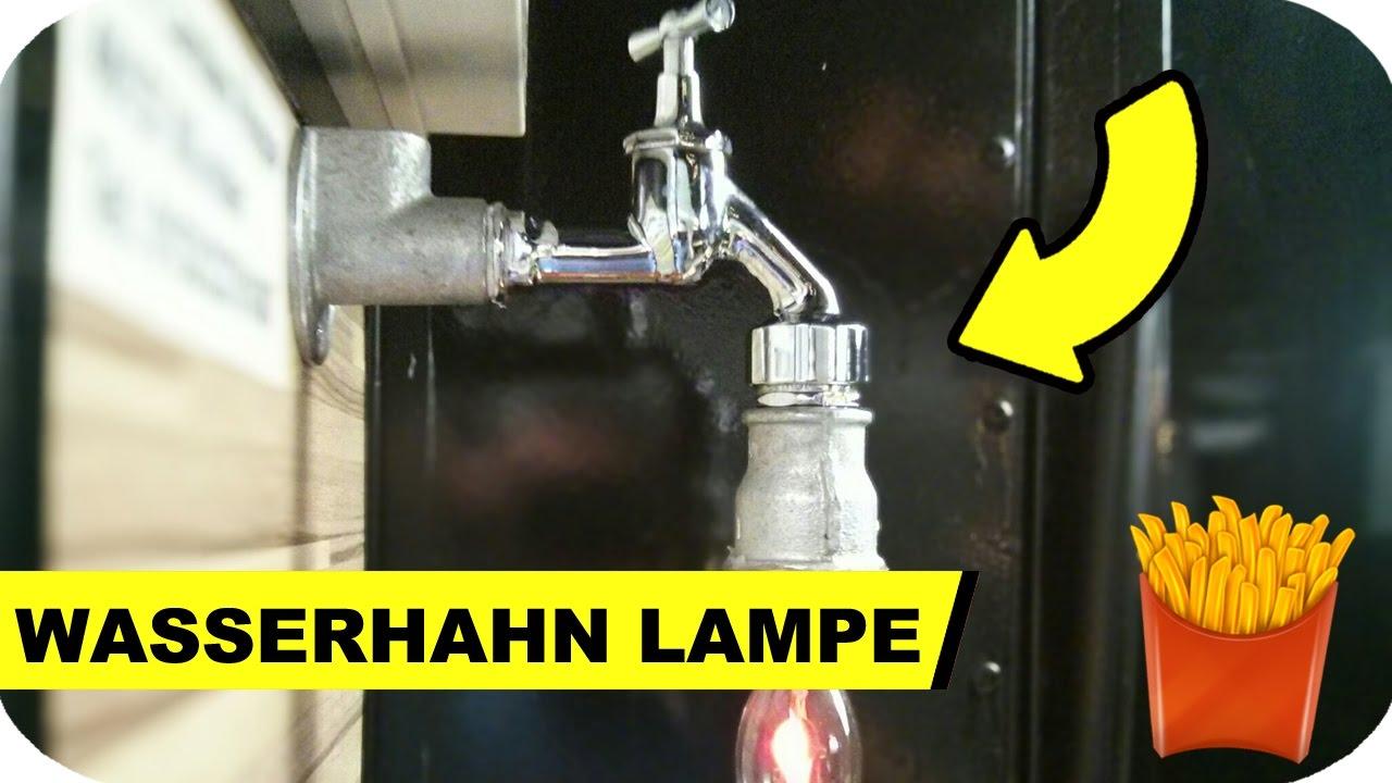 lampe selber bauen aus einem wasserhahn steampunk youtube. Black Bedroom Furniture Sets. Home Design Ideas