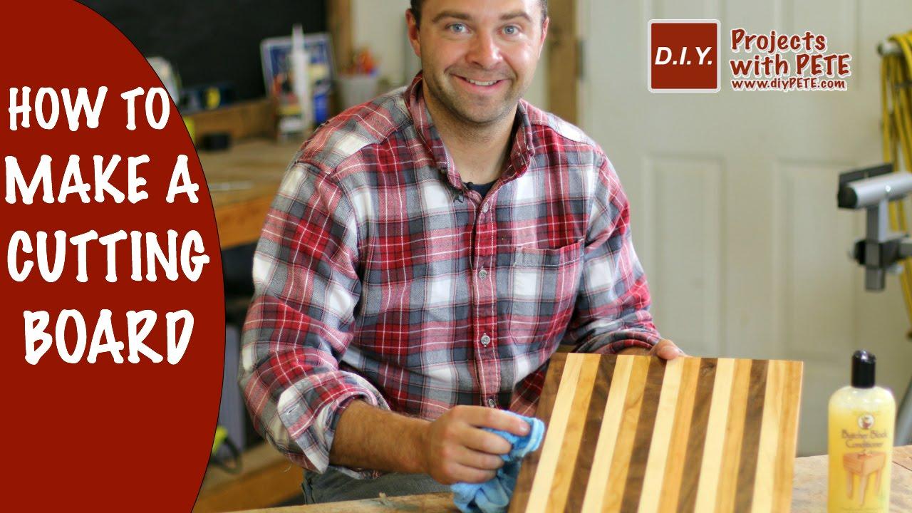 How To Make A Cutting Board Diy Butcher Block Cutting Board Youtube