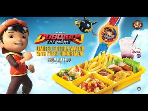 Boboiboy The Movie Junior Meal with OLDTOWN White Coffee