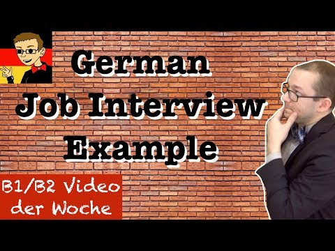 Intermediate German #6: Job Interview