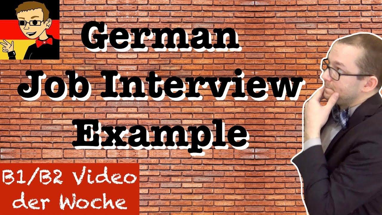 Intermediate German 20 Job Interview