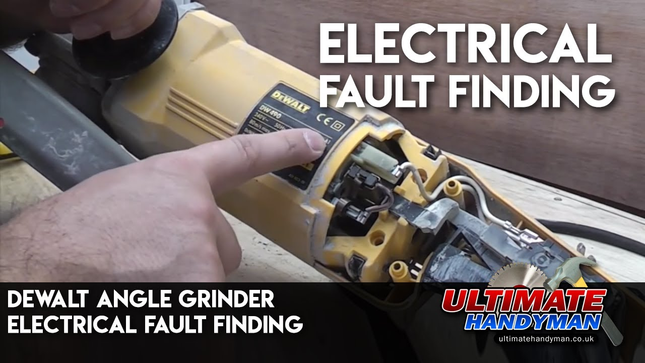 maxresdefault dewalt angle grinder electrical fault finding youtube black and decker bench grinder wiring diagram at edmiracle.co