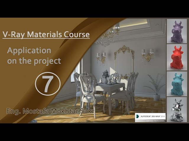 7-  Application vray materials on the project