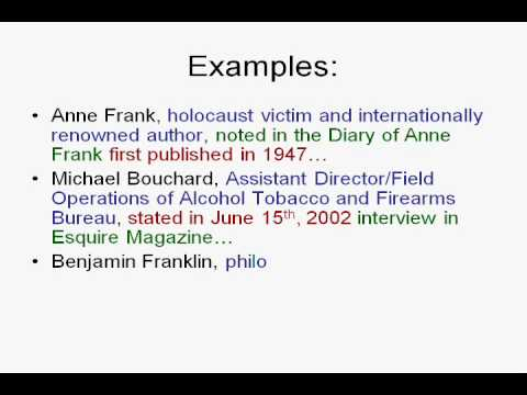 narrated power point source citation