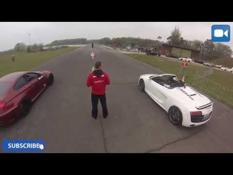 BMW M6 F12 vs Audi R8 V10 Spyder