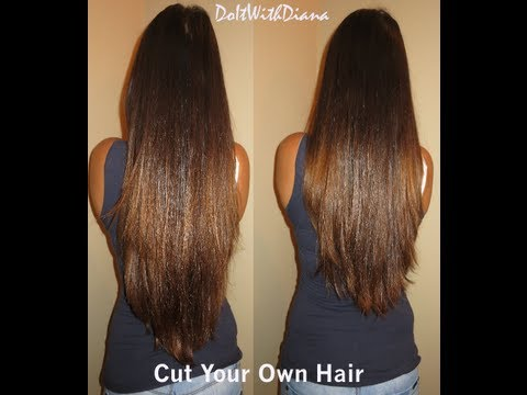 How To Hair Cut : How to cut layers in your own hair tutorial - LifeAsDiana - YouTube