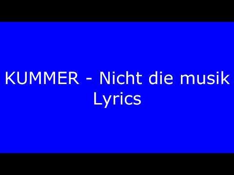 Kummer bei dir lyrics