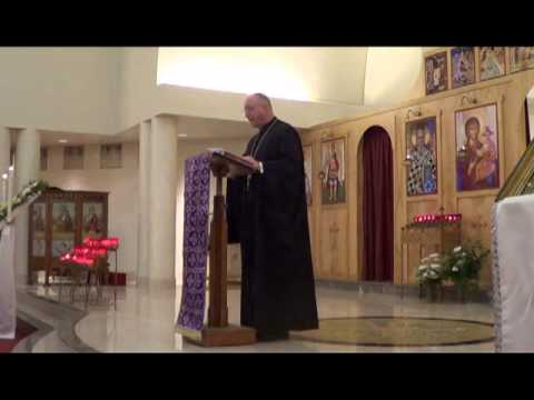 April 15, 2013: Fr. Dean Hountalas speaks on Entitlement at St. Nicholas GOC, Ann Arbor, Michigan