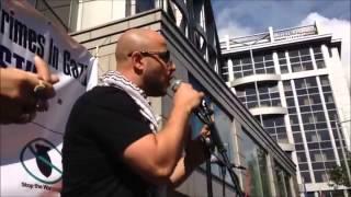 Maher Zain singing 'Freedom' outside Israeli Embassy  London