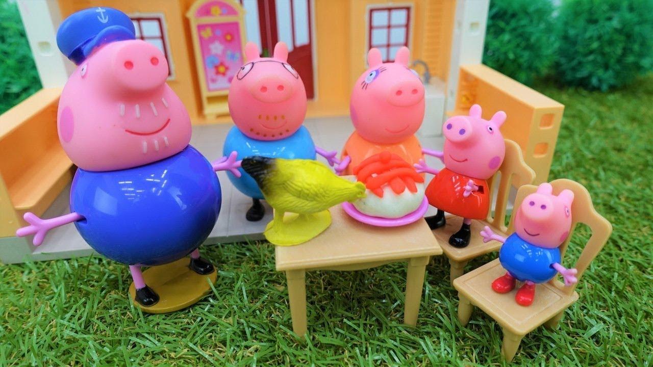 sale retailer 1d5a9 2e926 Video con i giocattoli. Peppa Pig e George nella fattoria di nonno. Giochi  per bambini