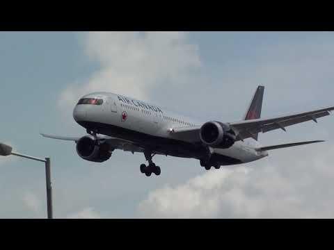 Air Canada Boeing 787-900 Dreamliner C-FVLQ Landing London Heathrow 27R