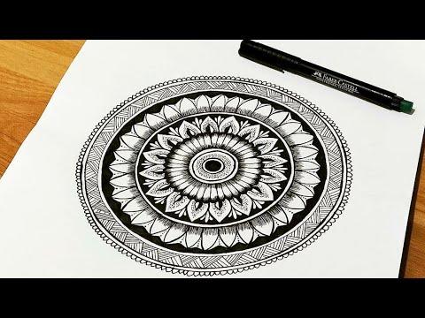 How To Draw Mandala Art For Beginners Simple Easy Mandala Art By Jyoshita Ghate Youtube