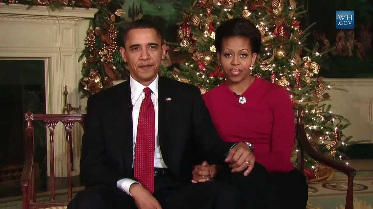 President Barack Obama\'s 2009 Christmas Address - YouTube