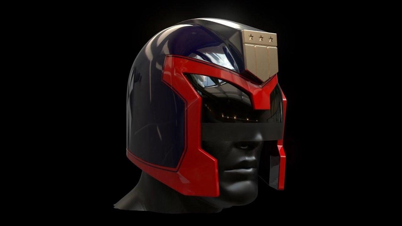 Modeling a Judge Dredd Helmet for 3D Printing!