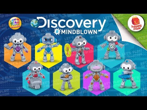 3dcaad5c05a 2019 Discovery #MINDBLOWN Robots McDonald's Happy Meal Complete Set of 8  Toys