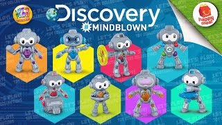 2019 Discovery #mindblown Robots Mcdonald's Happy Meal Complete Set Of 8 Toys