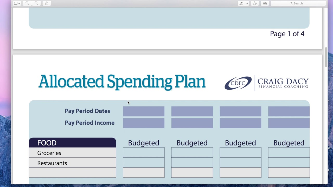 How to Use an Allocated Spending Plan - YouTube