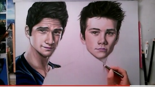 Drawing Scott McCall and Stiles Stilinski - TEEN WOLF ( Tyler Posey and Dylan O