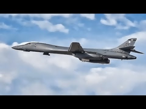 B-1B Bomber Operations At Dyess AFB • Global Thunder 18
