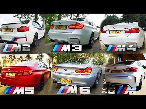 BMW M2 vs M3 vs M4 vs M5 vs M6 vs X6 M ACCELERATION & TOP SPEED POV AUTOBAHN