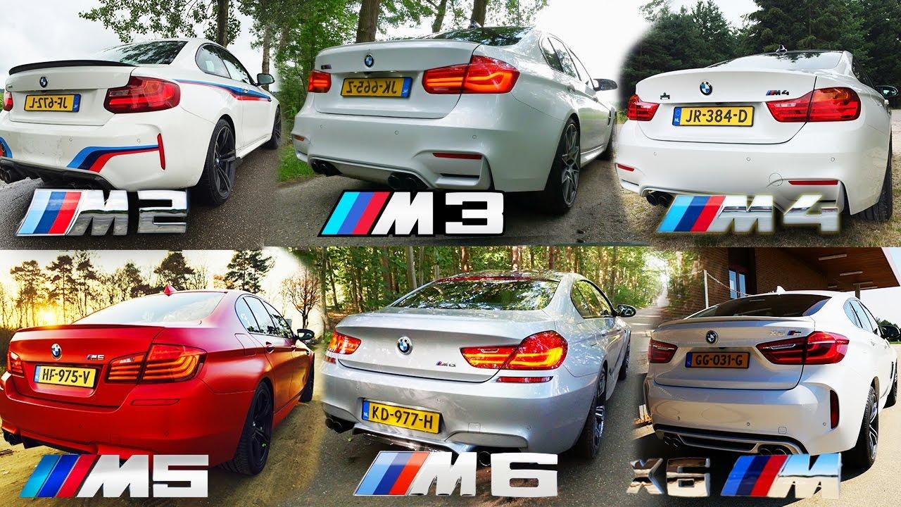 bmw m2 vs m3 vs m4 vs m5 vs m6 vs x6 m acceleration top. Black Bedroom Furniture Sets. Home Design Ideas