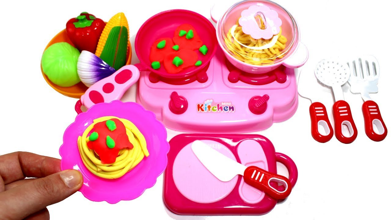 Play Doh Küche Youtube Pretend Cooking Toy Kitchen Play Doh Food Spaghetti Making How To Make Play Doh Hot Dog For Kids