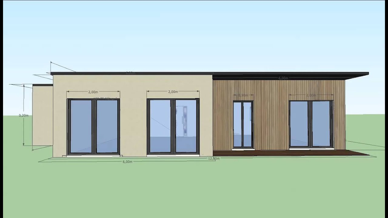 Maison container 130m2 youtube for Maison 130m2