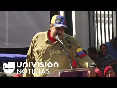Concentración para conmemorar el intento de golpe de Estado del expresidente Hugo Chávez en Caracas