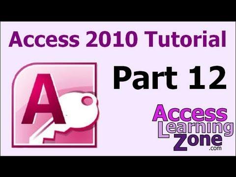 Ms access 2010 tutorial pdf