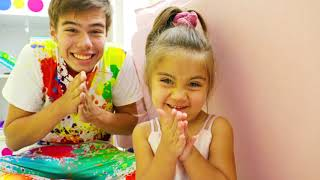 Nastya and Artem pretend play with Kinetic Sand The best stories for kids