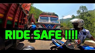 ALMOST HAD AN ACCIDENT | CHASING DUKE | MUGLIN TO POKHARA | HIGHWAY RIDE  | MOTOVLOG  | NEPAL |