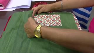 Porta marmita térmica em patchwork – Sonia Maria Mostachio – PT1