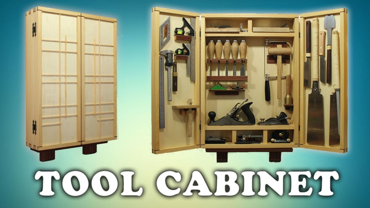 Building a woodworking tool cabinet youtube for Cabinet design tool