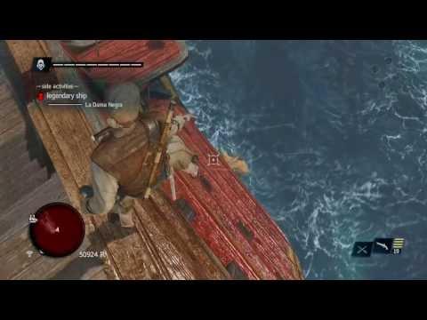 How to Easily Defeat Legendary Ship: La Dama Negra no upgrades!! Assassin's Creed 4  PS4