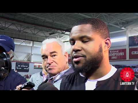 Ohio State RB Mike Weber speaks after spring practice on 4/9