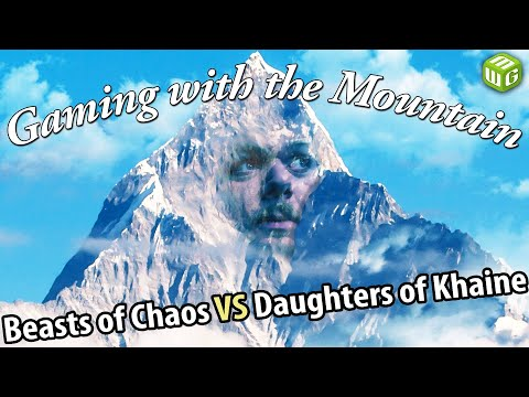 Beasts Of Chaos Vs Daughters Of Khaine Age Of Sigmar Battle Report Gaming With The Mountain Ep 09