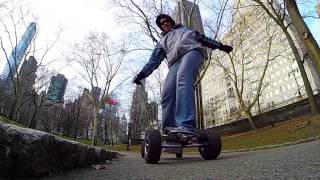 GoPro through Central Park on Electric Skateboard