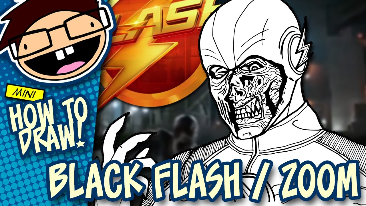 How To Draw Black Flash Zoom The Flash Narrated Easy Step By