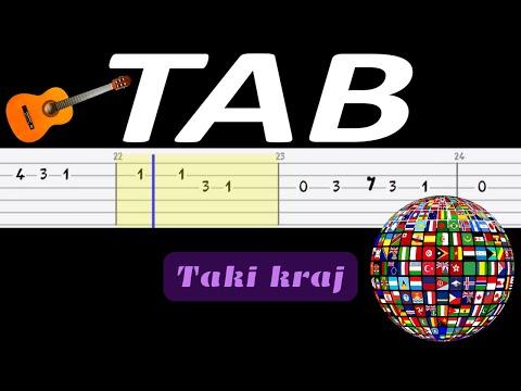 🎸 Taki kraj (Jest takie miejsce, jest taki kraj, Jan Pietrzak) - melodia TAB (gitara) 🎸