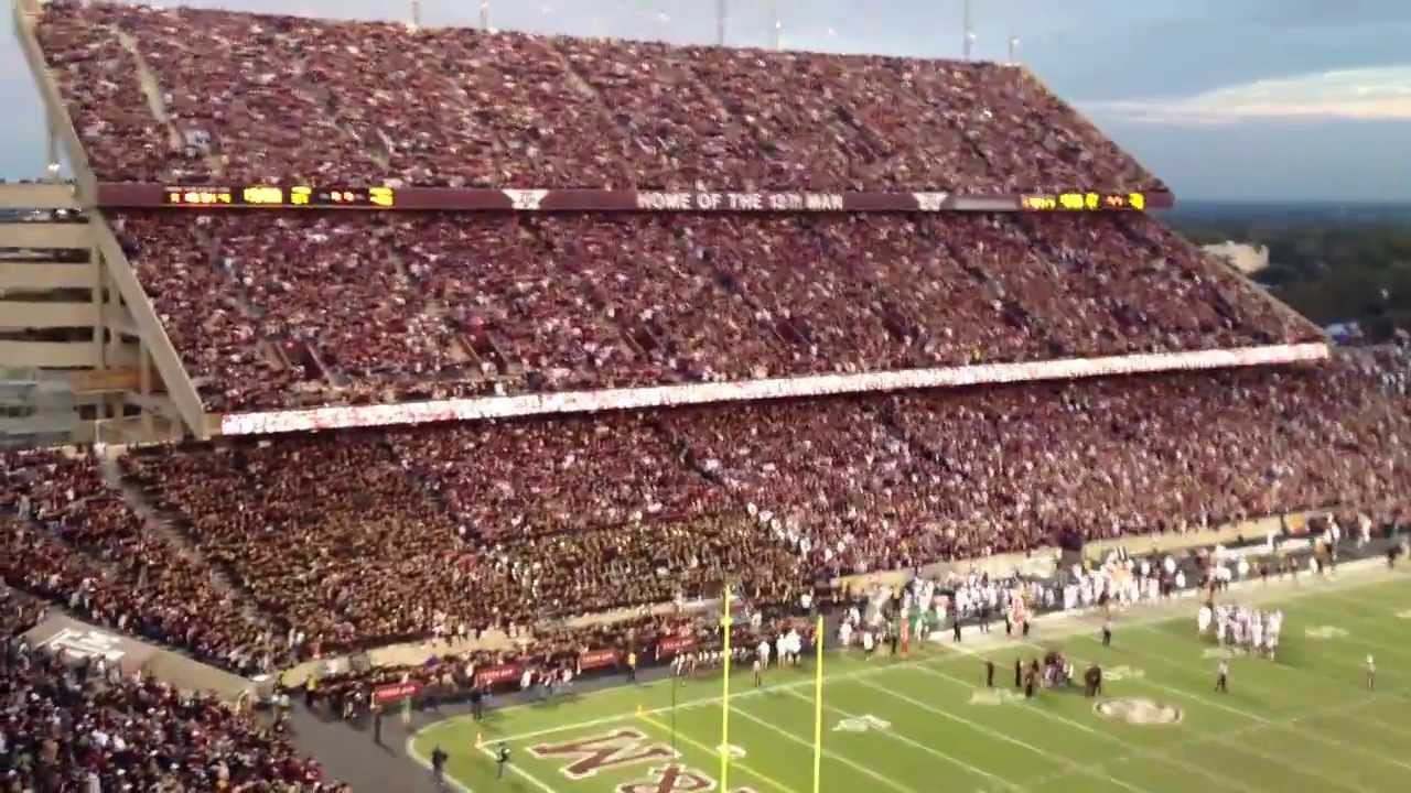 Aggie War Hymn 2013 Texas A M Vs Mississippi State Last Game At Kyle Field Youtube