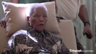 First video of Nelson Mandela since hospital release