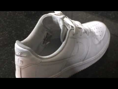 how to get rid of the creases on Nike Air Force 1 // TUTORIAL