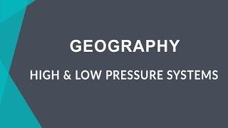 Learn about high pressure and low pressure system that causes rainf...