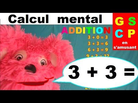 Addition Gs Cp Ce1 Calcul Mental En S Amusant Table Du 3 Youtube