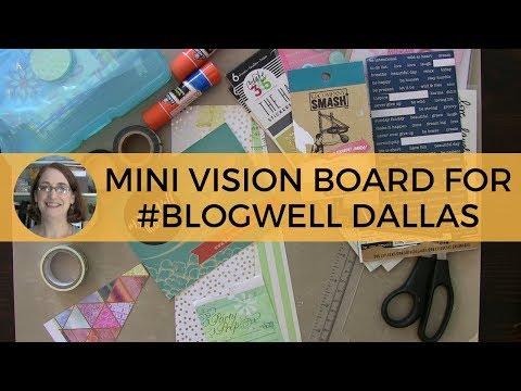 Mini Vision Board for Blog Well Retreat Dallas