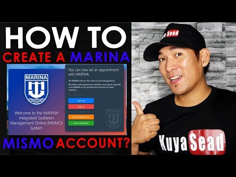 How to  create a MARINA MISMO Account? Vlog #019