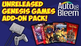Unreleased & Homebrew Sega Genesis PlayStation Classic Autobleem Hack Add-On!