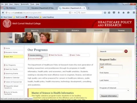 M.S. in Health Informatics / Certificate in Health Analytics - Webinar - January 12, 2016